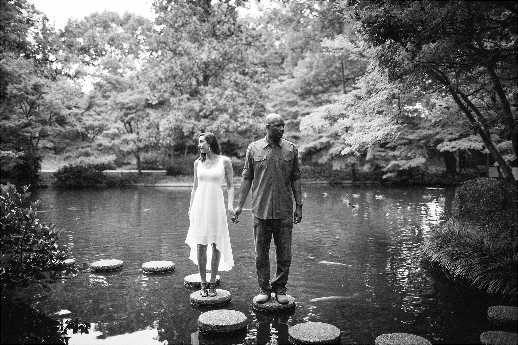 KateJosh a fort worth botanical gardens couples session