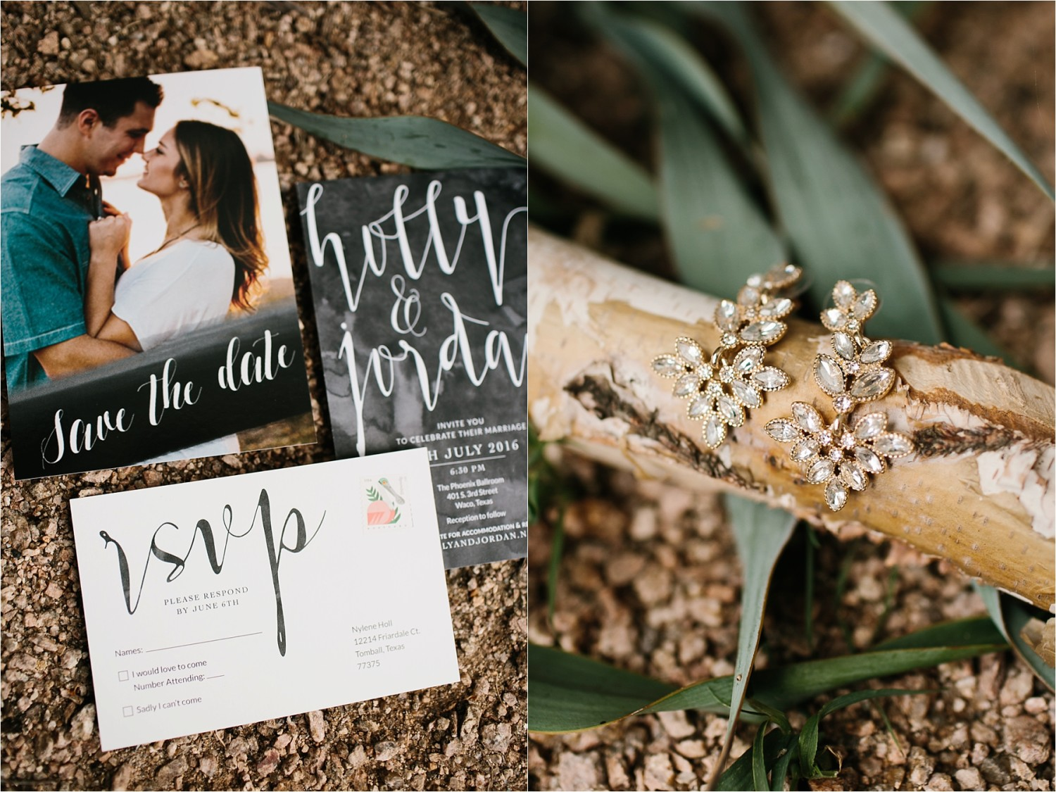 Holly + Jordan __ a black, gold, and greenery organic wedding at The Phoenix Ballroom in Waco, TX by North Texas Wedding Photographer Rachel Meagan Photography __ 03