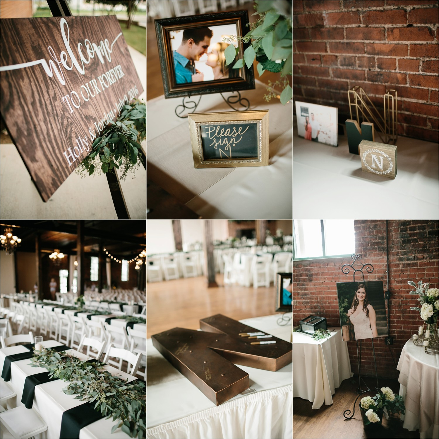 Holly + Jordan __ a black, gold, and greenery organic wedding at The Phoenix Ballroom in Waco, TX by North Texas Wedding Photographer Rachel Meagan Photography __ 10