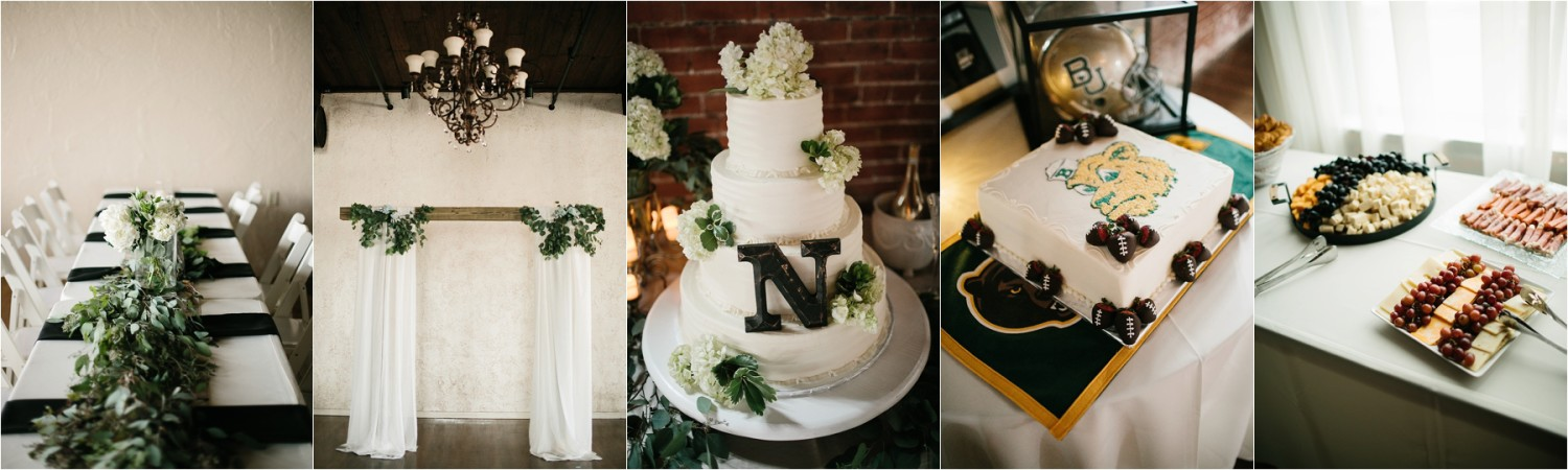 Holly + Jordan __ a black, gold, and greenery organic wedding at The Phoenix Ballroom in Waco, TX by North Texas Wedding Photographer Rachel Meagan Photography __ 16