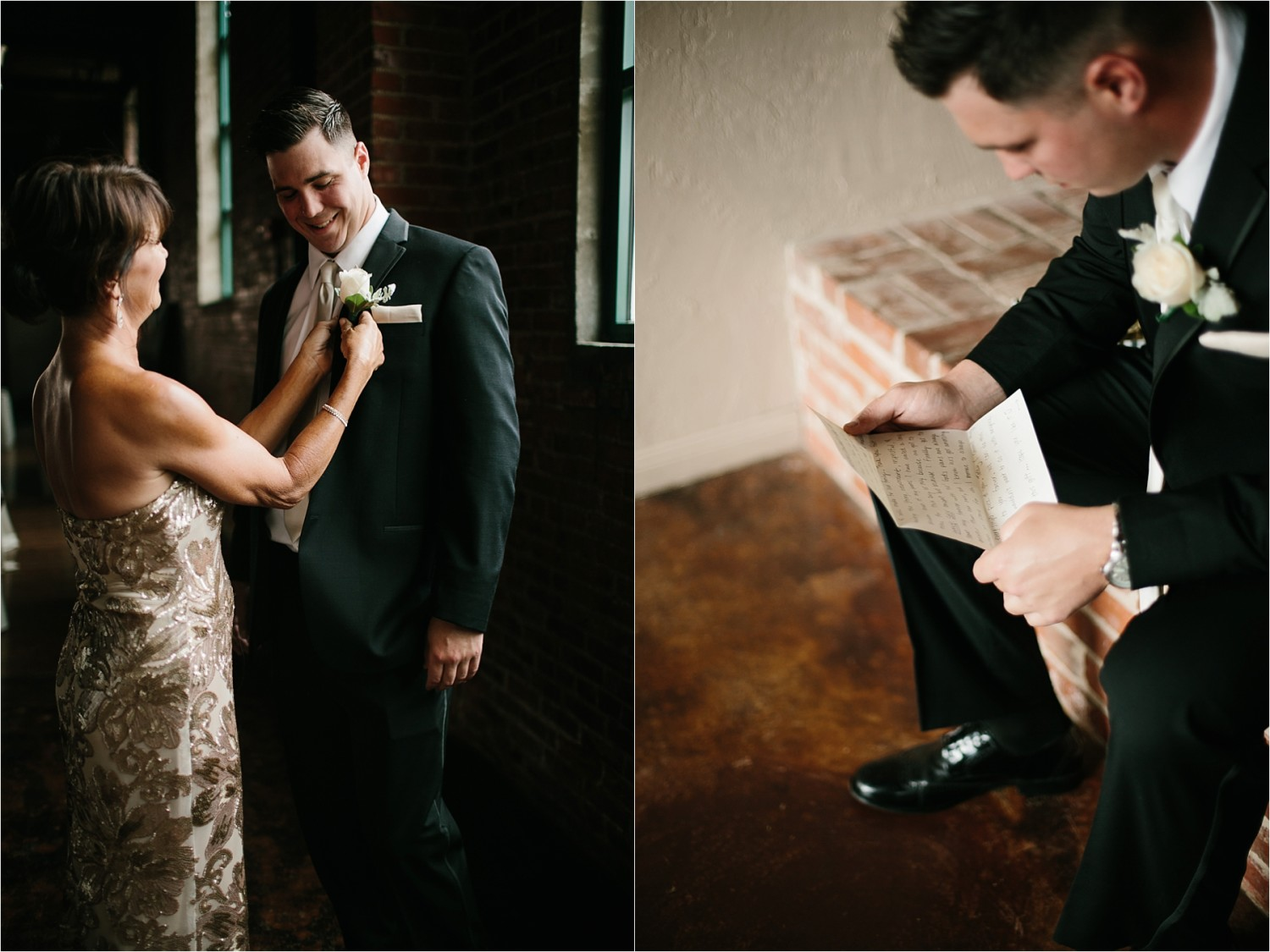Holly + Jordan __ a black, gold, and greenery organic wedding at The Phoenix Ballroom in Waco, TX by North Texas Wedding Photographer Rachel Meagan Photography __ 28