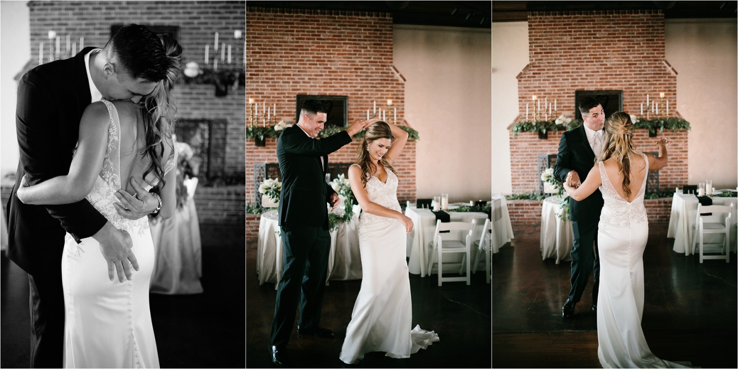 Holly + Jordan __ a black, gold, and greenery organic wedding at The Phoenix Ballroom in Waco, TX by North Texas Wedding Photographer Rachel Meagan Photography __ 31