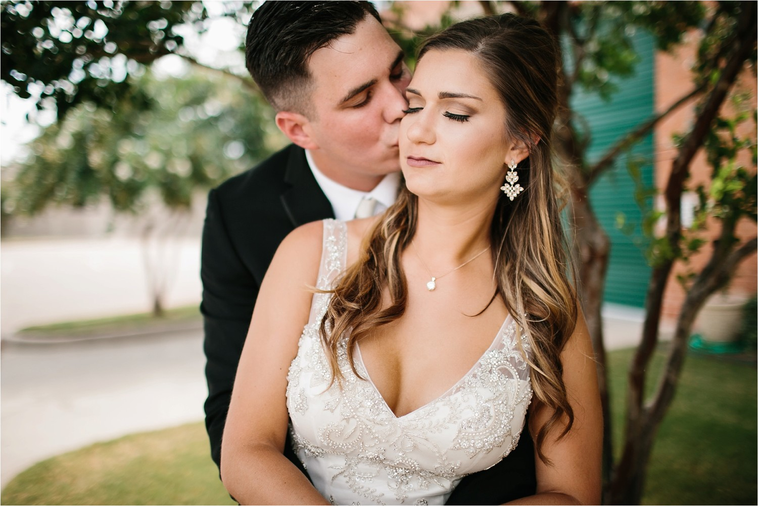 Holly + Jordan __ a black, gold, and greenery organic wedding at The Phoenix Ballroom in Waco, TX by North Texas Wedding Photographer Rachel Meagan Photography __ 39