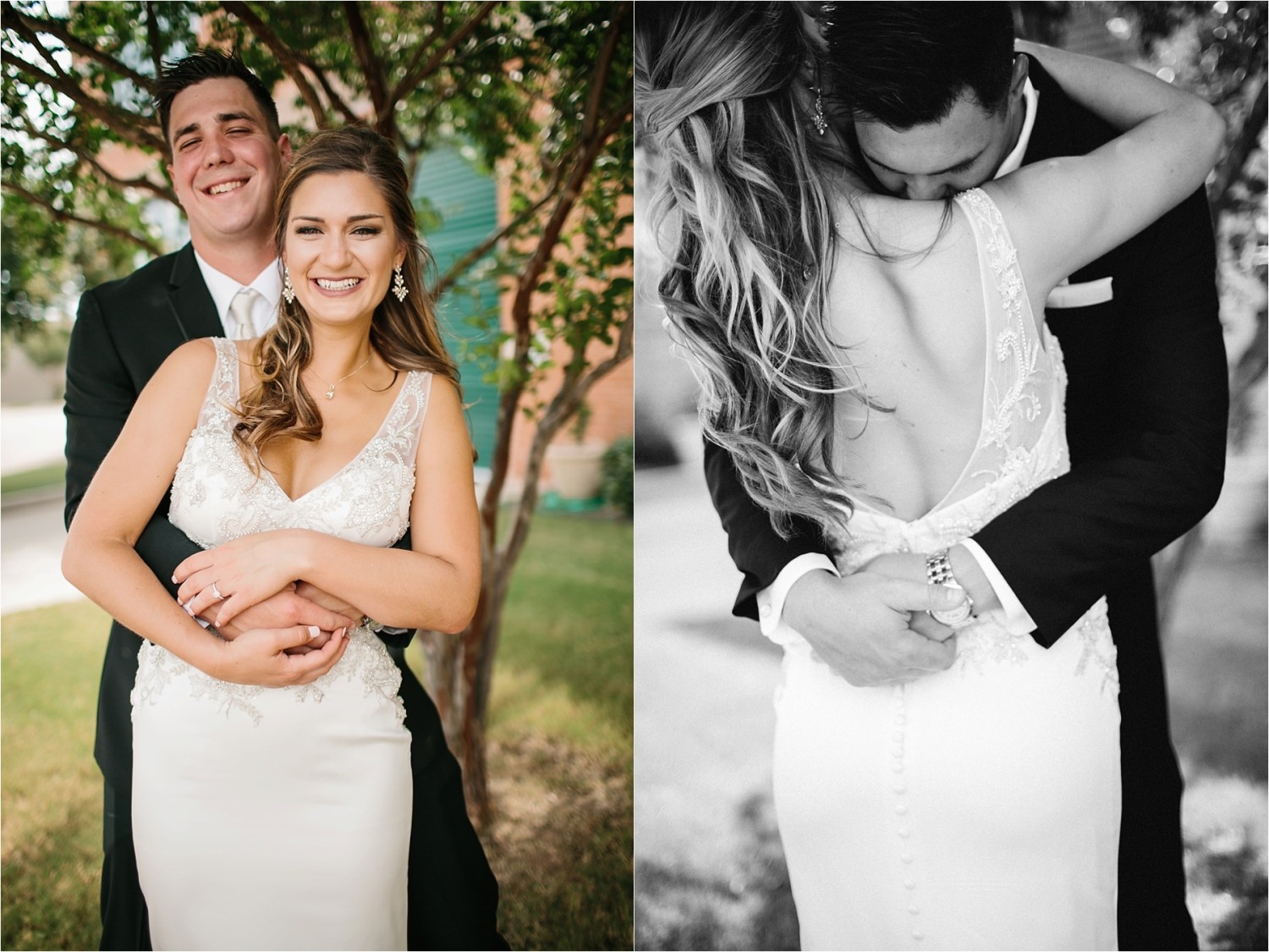 Holly + Jordan __ a black, gold, and greenery organic wedding at The Phoenix Ballroom in Waco, TX by North Texas Wedding Photographer Rachel Meagan Photography __ 40