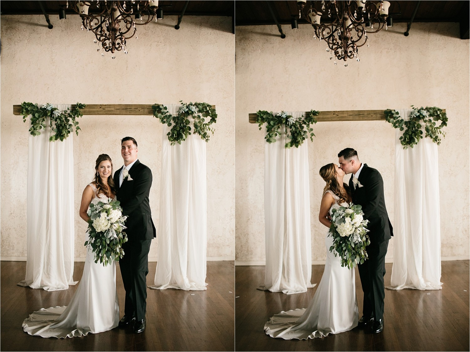 Holly + Jordan __ a black, gold, and greenery organic wedding at The Phoenix Ballroom in Waco, TX by North Texas Wedding Photographer Rachel Meagan Photography __ 57
