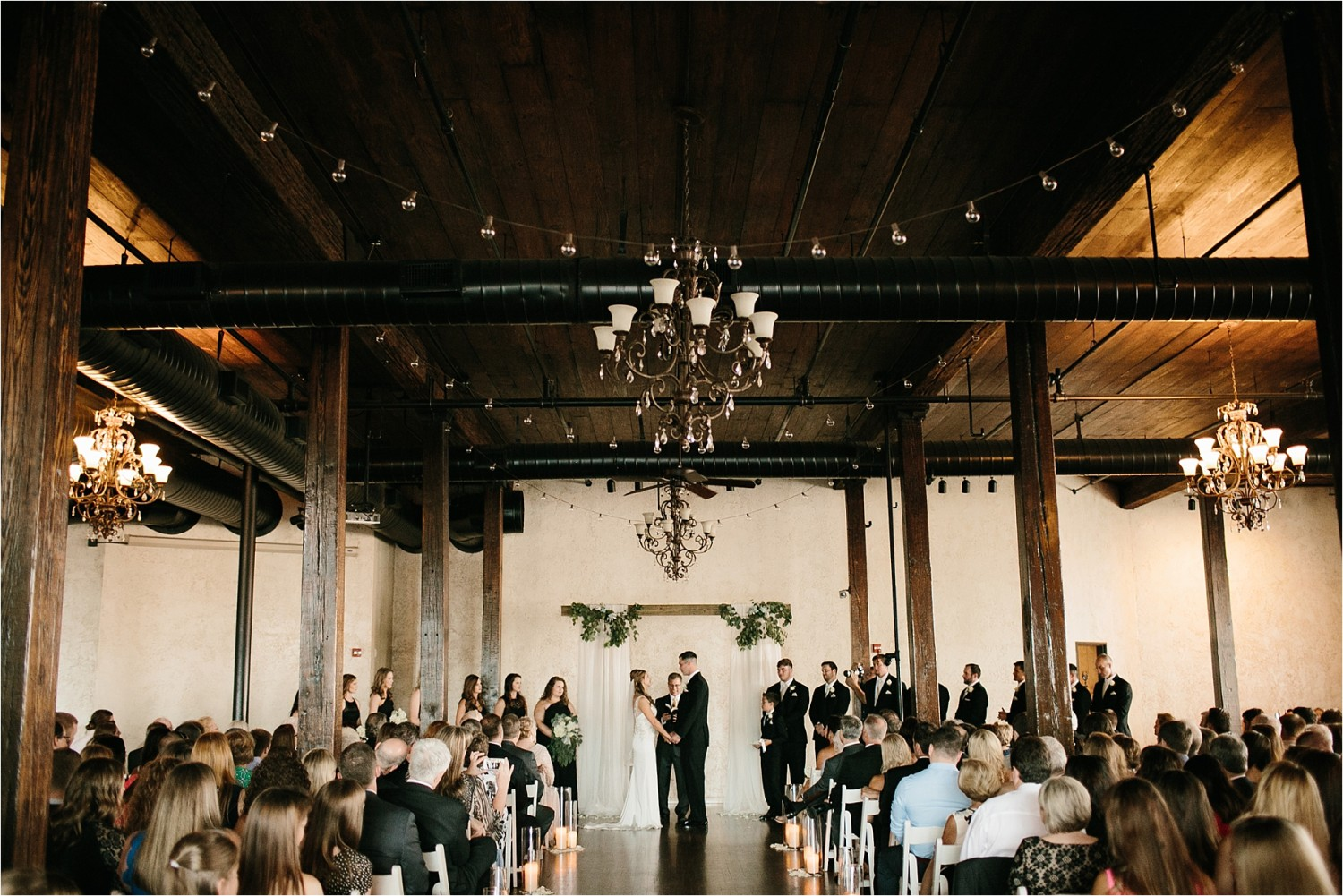 Holly + Jordan __ a black, gold, and greenery organic wedding at The Phoenix Ballroom in Waco, TX by North Texas Wedding Photographer Rachel Meagan Photography __ 62