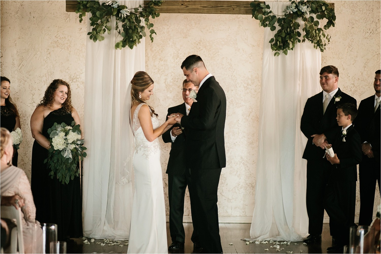 Holly + Jordan __ a black, gold, and greenery organic wedding at The Phoenix Ballroom in Waco, TX by North Texas Wedding Photographer Rachel Meagan Photography __ 63