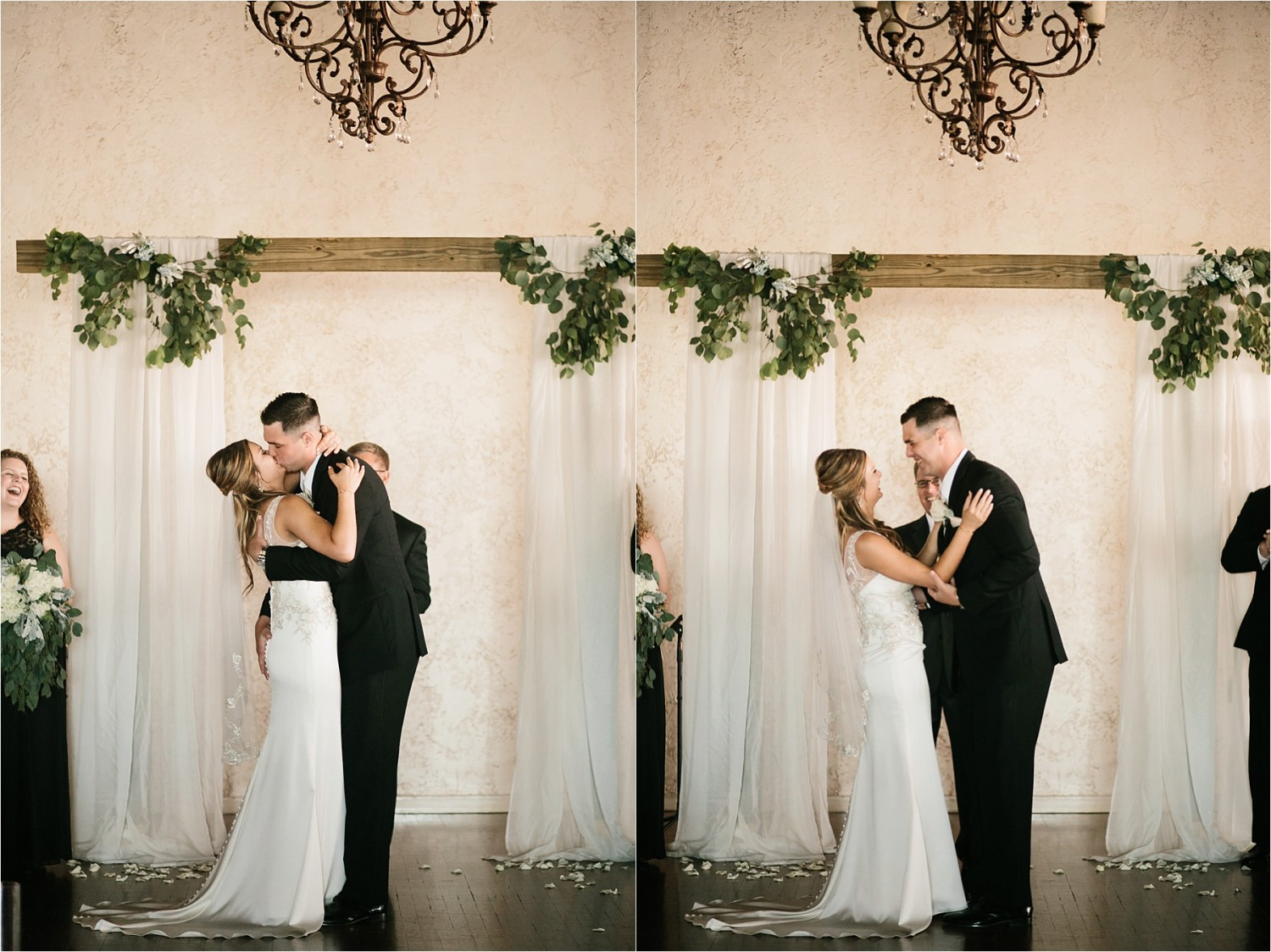Holly + Jordan __ a black, gold, and greenery organic wedding at The Phoenix Ballroom in Waco, TX by North Texas Wedding Photographer Rachel Meagan Photography __ 65