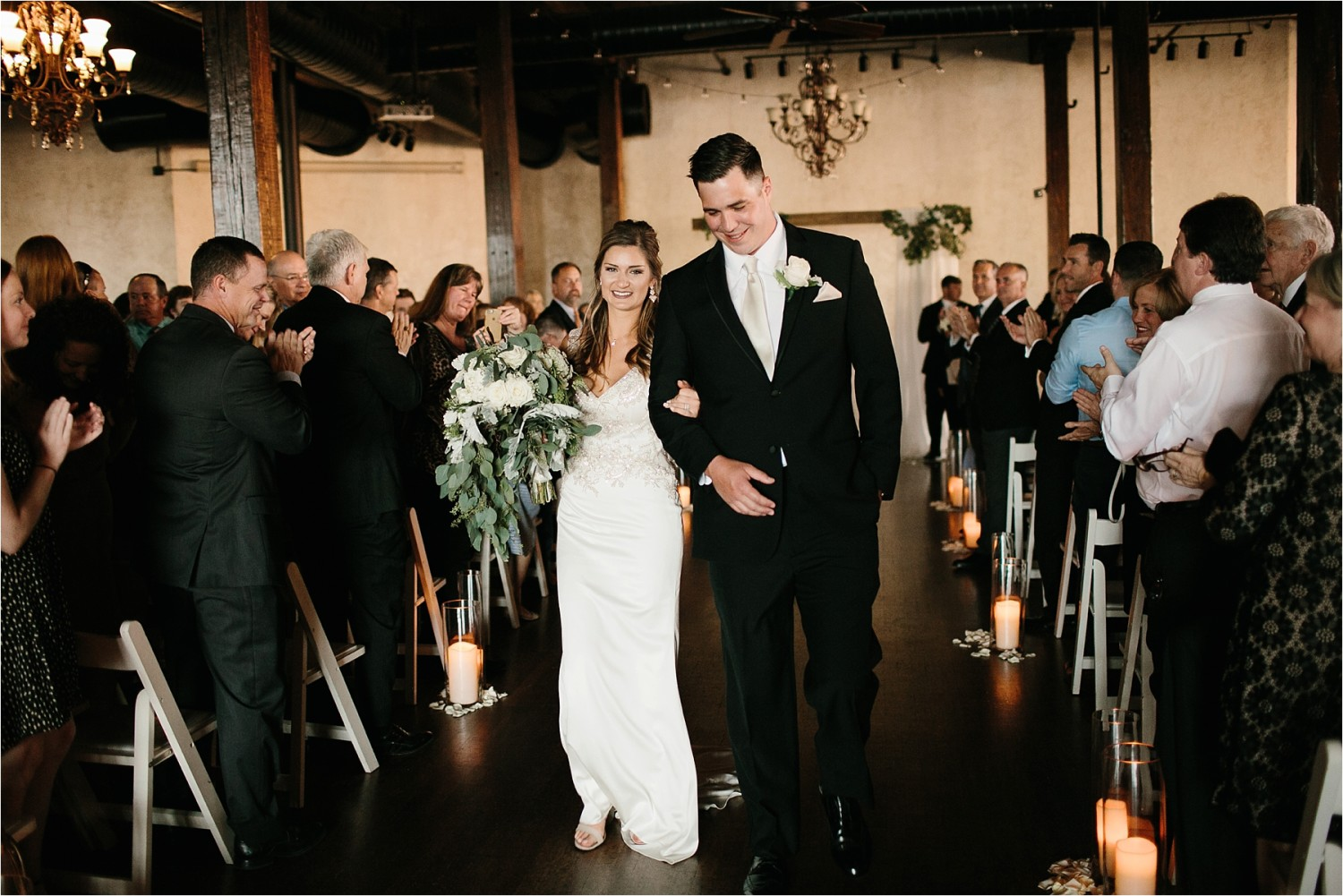 Holly + Jordan __ a black, gold, and greenery organic wedding at The Phoenix Ballroom in Waco, TX by North Texas Wedding Photographer Rachel Meagan Photography __ 66