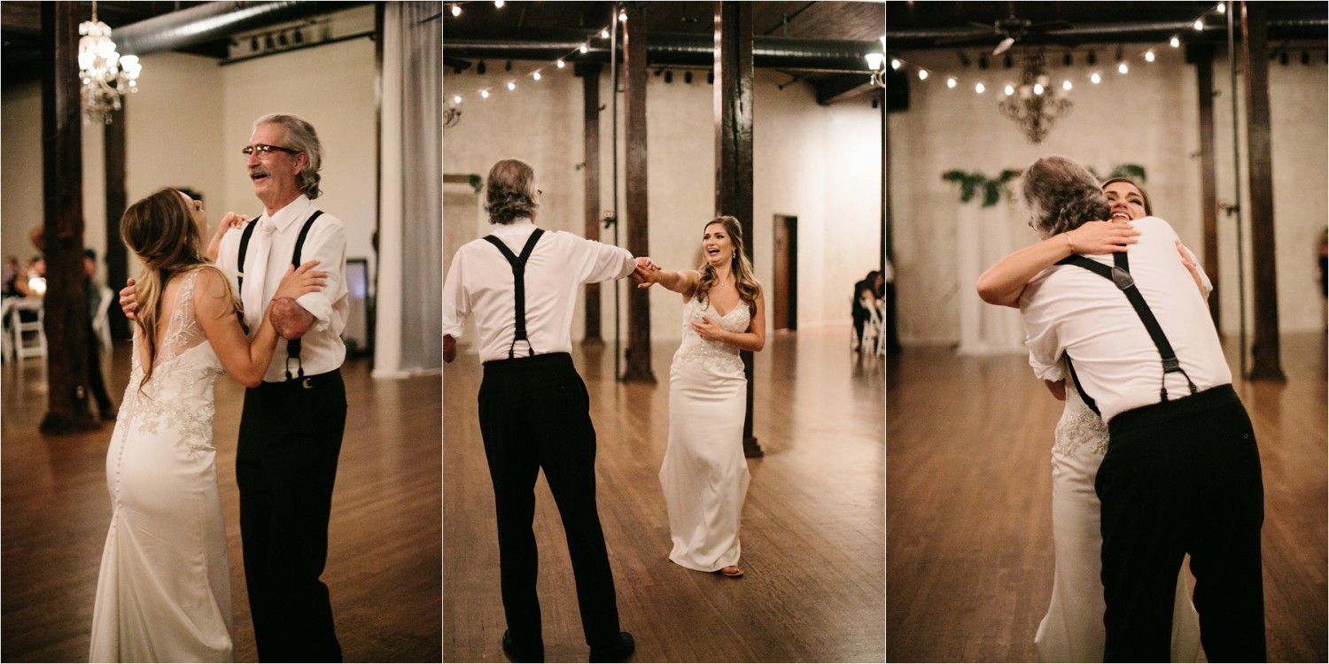 Holly + Jordan __ a black, gold, and greenery organic wedding at The Phoenix Ballroom in Waco, TX by North Texas Wedding Photographer Rachel Meagan Photography __ 69