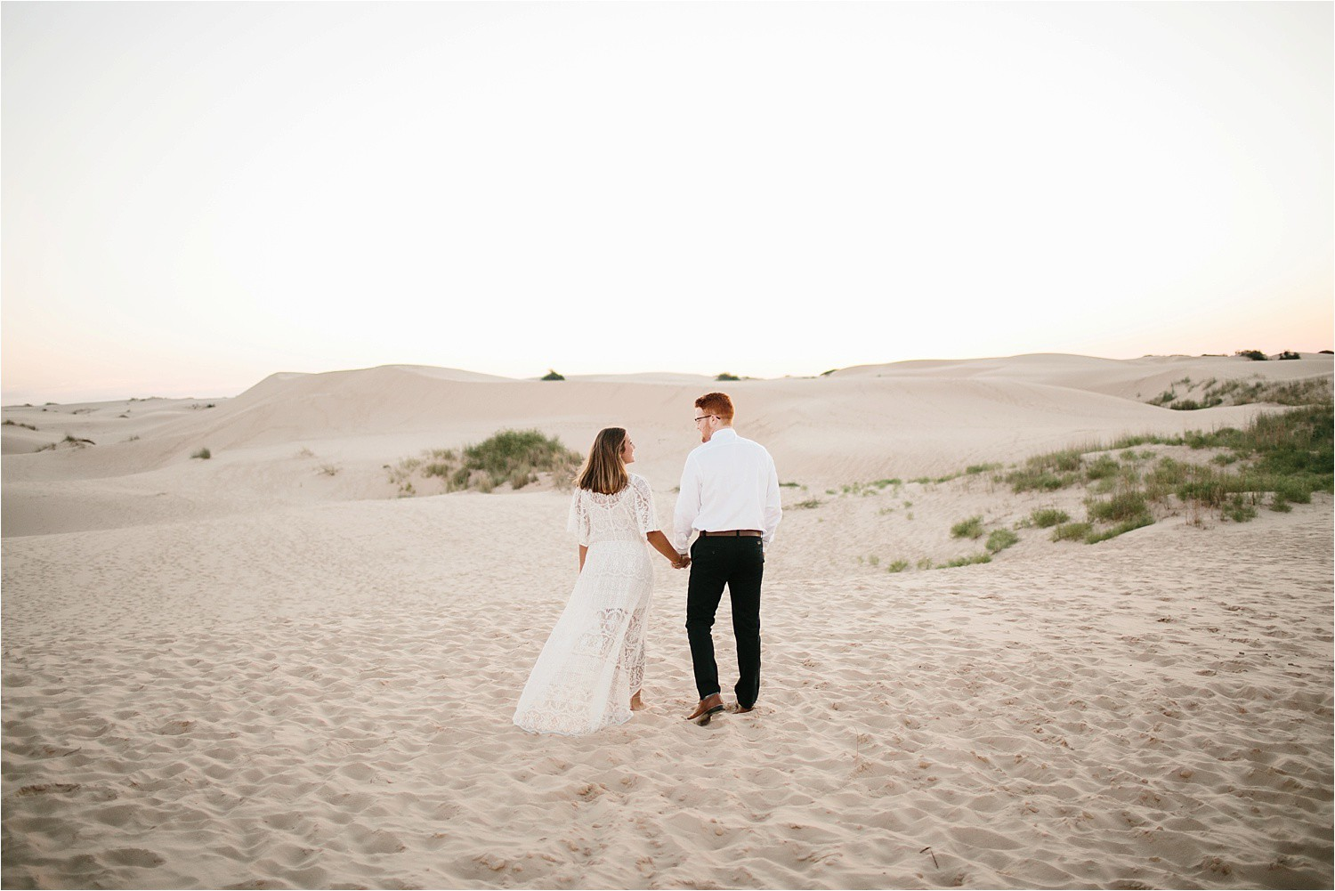 Lauren + Jacob __ a monahans sand dunes engagement session at sunrise by North Texas Wedding Photographer, Rachel Meagan Photography __ 01