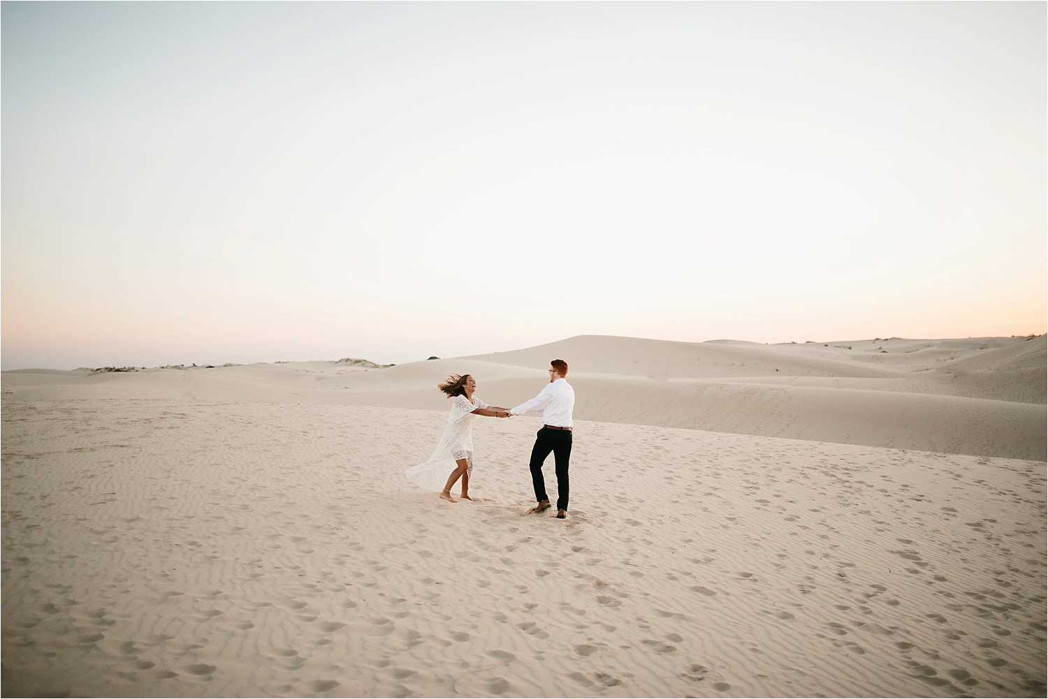Lauren + Jacob __ a monahans sand dunes engagement session at sunrise by North Texas Wedding Photographer, Rachel Meagan Photography __ 03