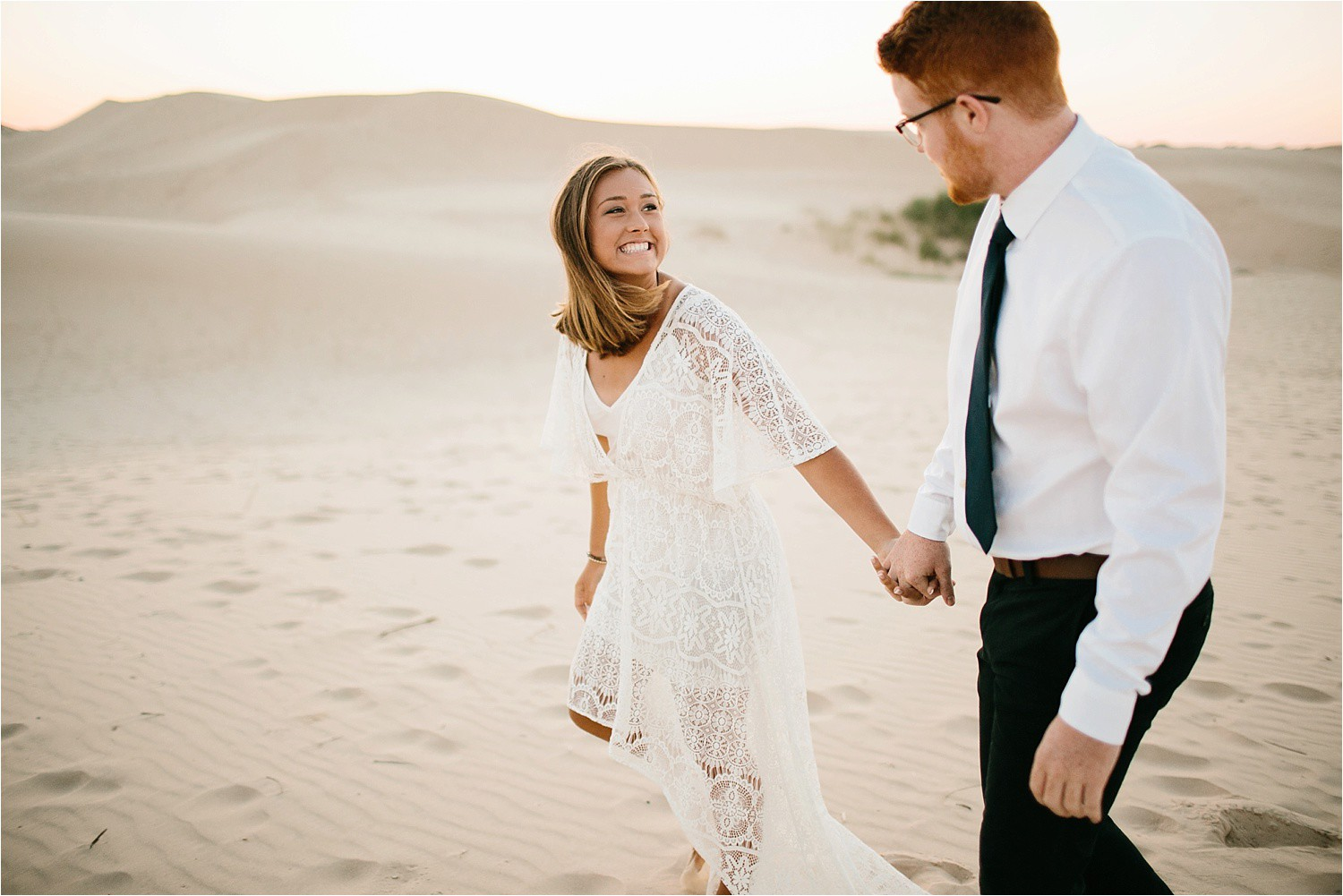 Lauren + Jacob __ a monahans sand dunes engagement session at sunrise by North Texas Wedding Photographer, Rachel Meagan Photography __ 04