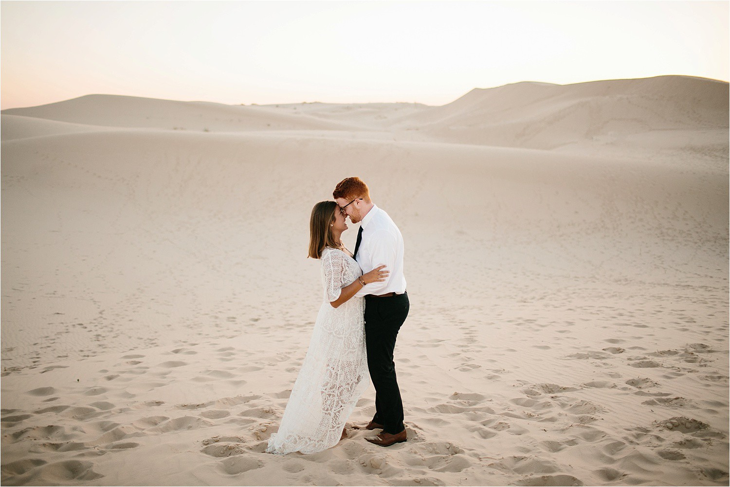 Lauren + Jacob __ a monahans sand dunes engagement session at sunrise by North Texas Wedding Photographer, Rachel Meagan Photography __ 05
