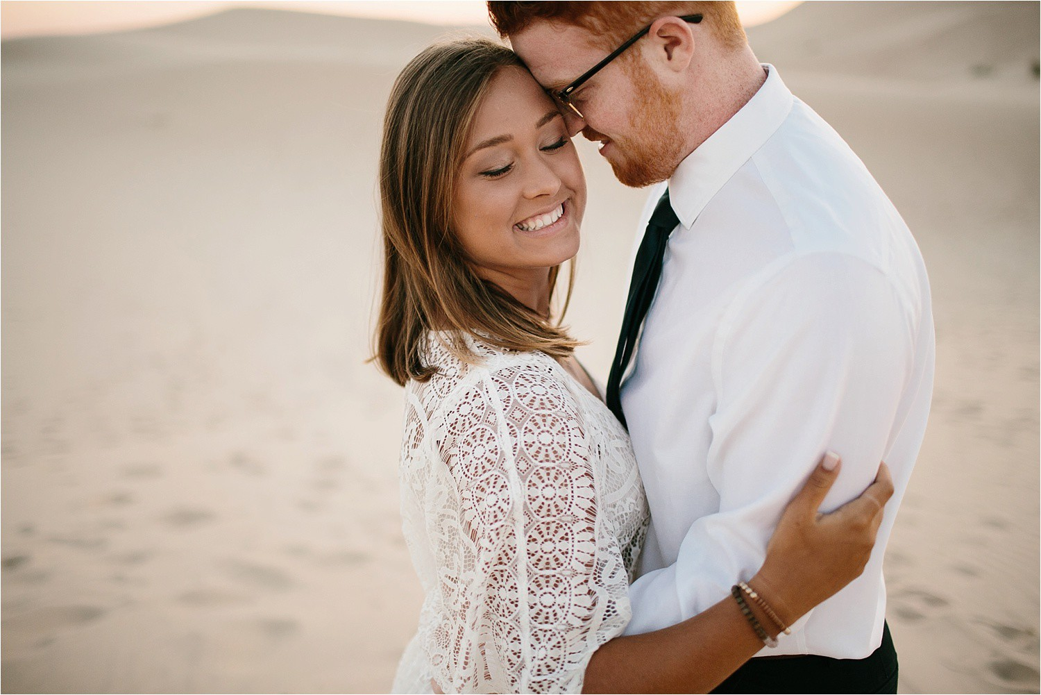 Lauren + Jacob __ a monahans sand dunes engagement session at sunrise by North Texas Wedding Photographer, Rachel Meagan Photography __ 06