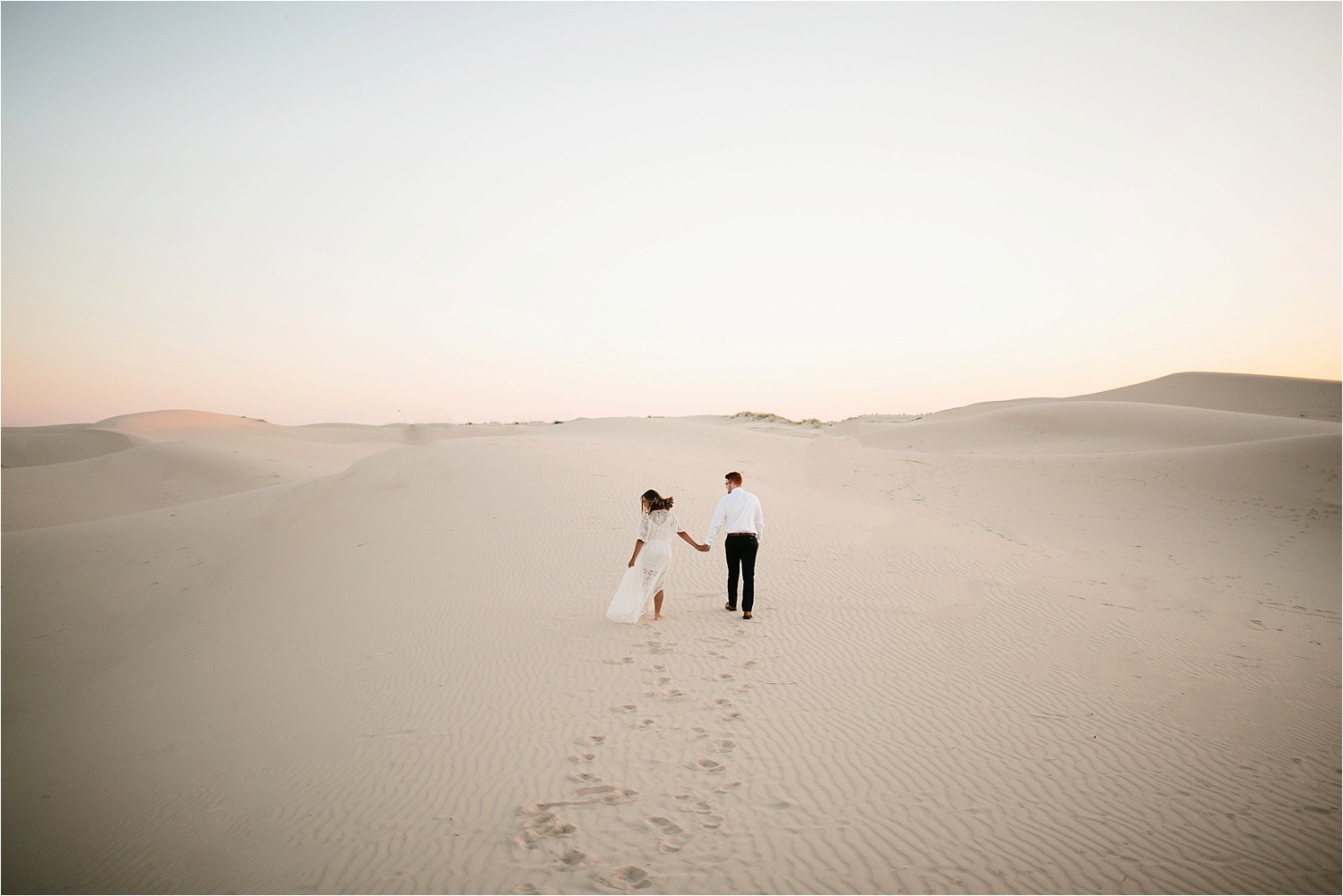 Lauren + Jacob __ a monahans sand dunes engagement session at sunrise by North Texas Wedding Photographer, Rachel Meagan Photography __ 07