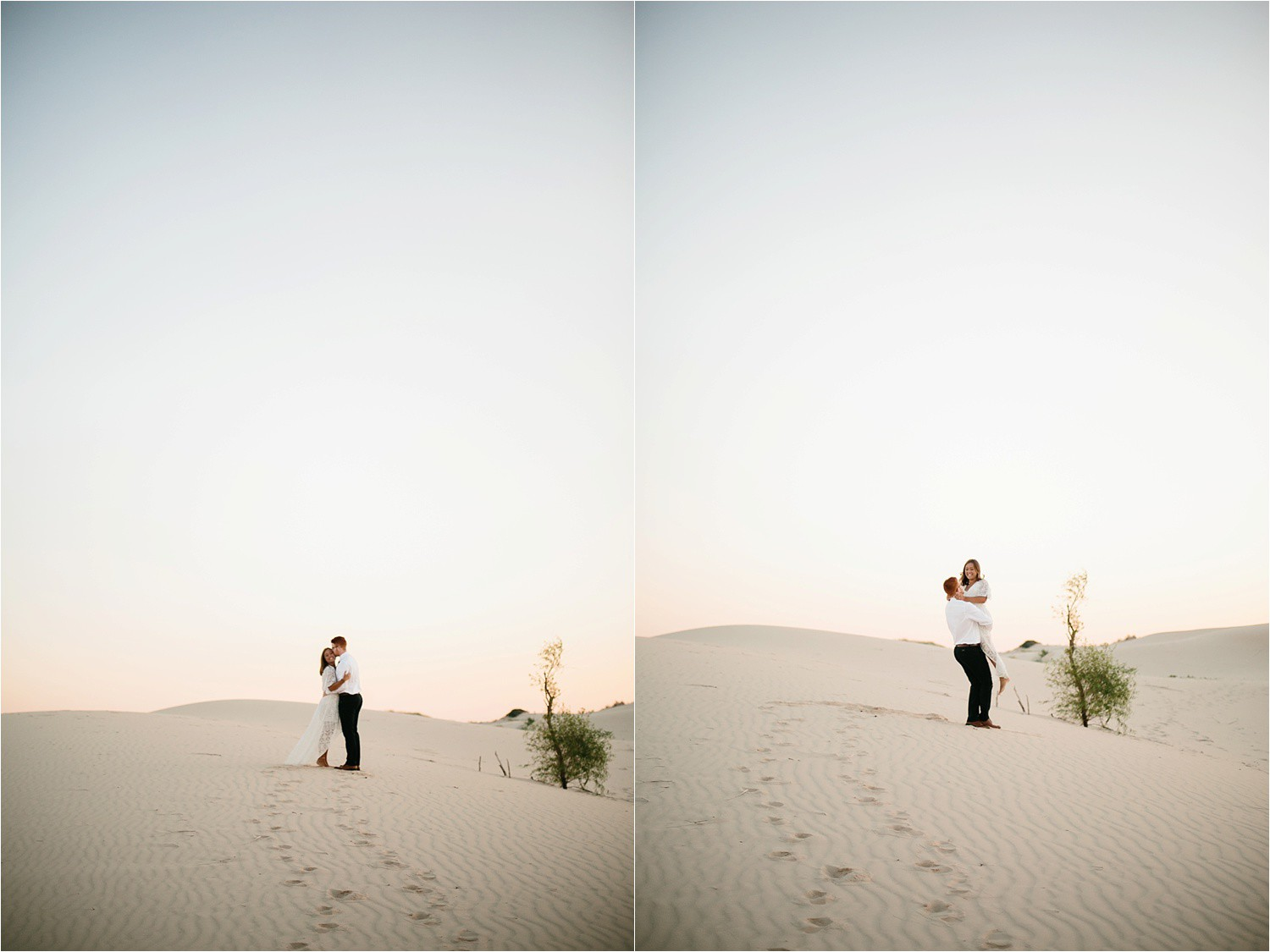 Lauren + Jacob __ a monahans sand dunes engagement session at sunrise by North Texas Wedding Photographer, Rachel Meagan Photography __ 08