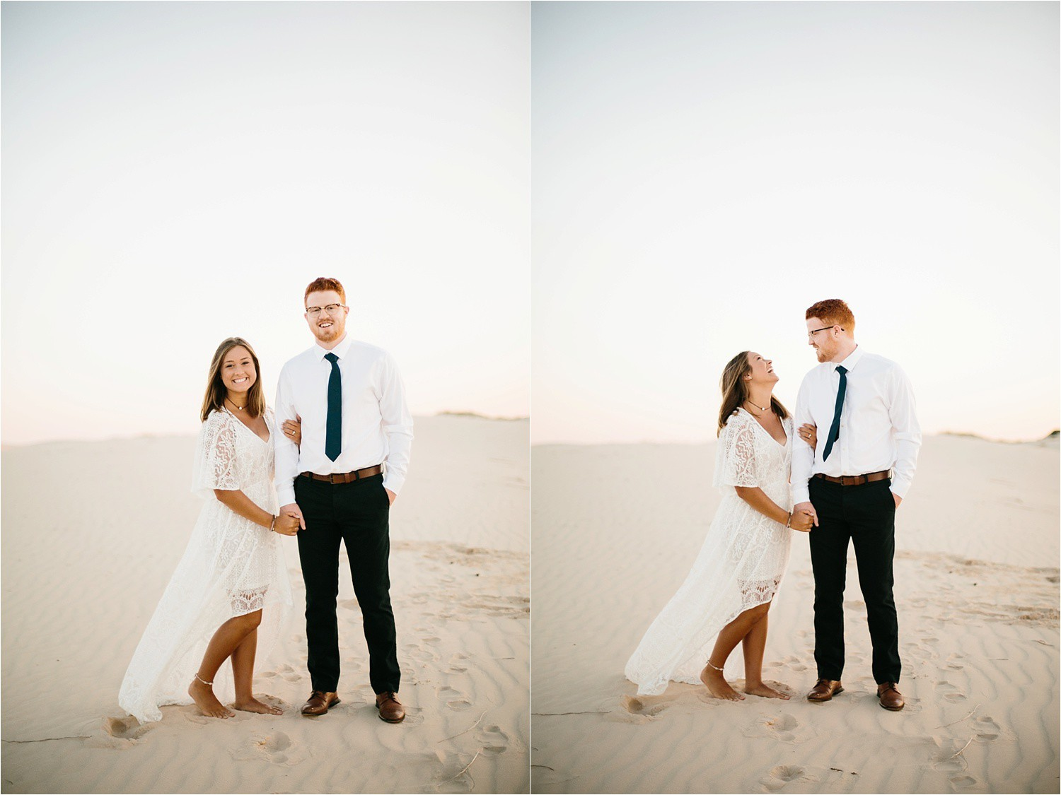Lauren + Jacob __ a monahans sand dunes engagement session at sunrise by North Texas Wedding Photographer, Rachel Meagan Photography __ 09