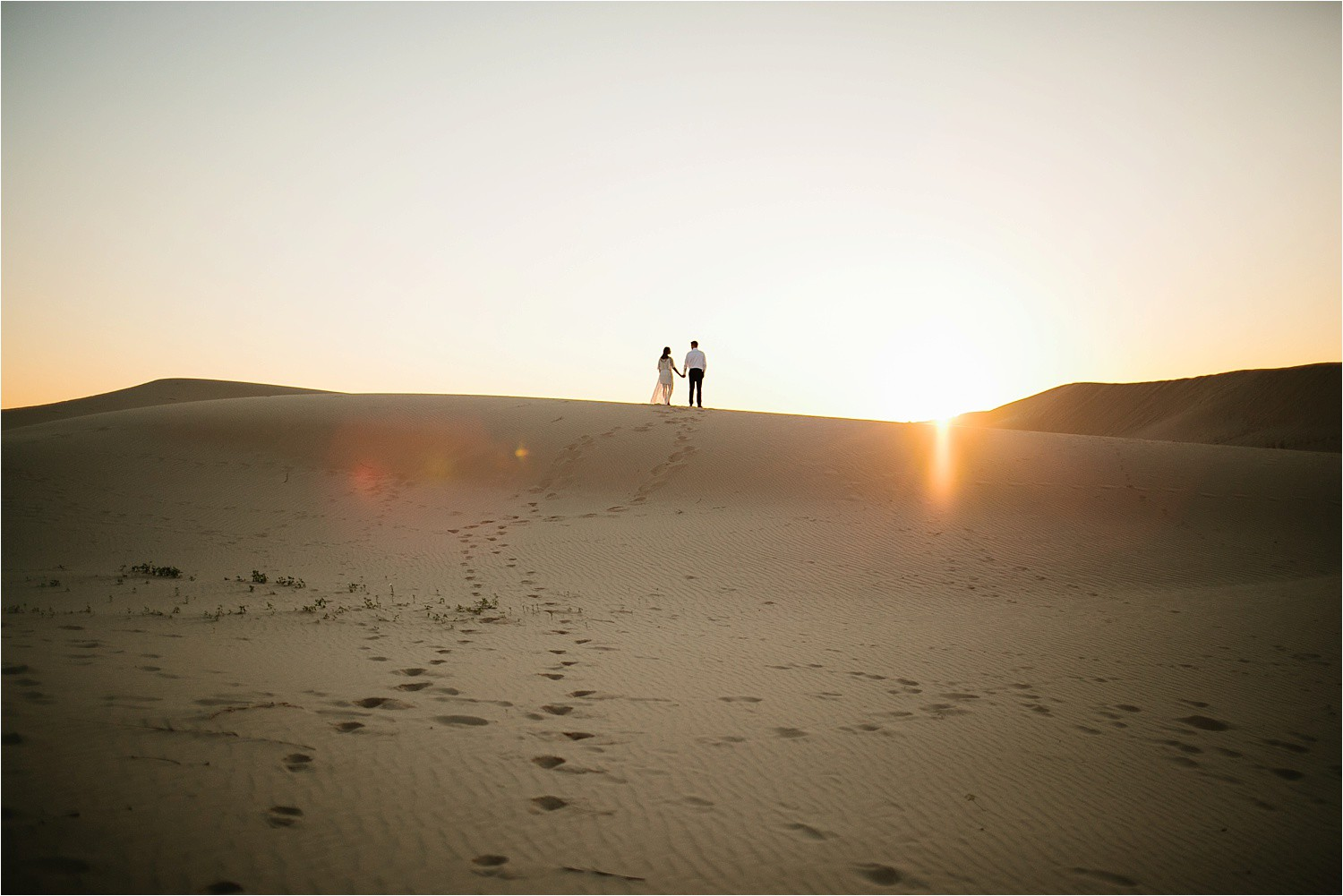 Lauren + Jacob __ a monahans sand dunes engagement session at sunrise by North Texas Wedding Photographer, Rachel Meagan Photography __ 10