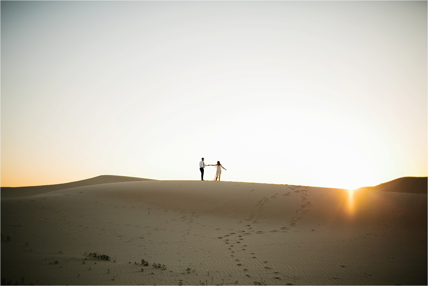 Lauren + Jacob __ a monahans sand dunes engagement session at sunrise by North Texas Wedding Photographer, Rachel Meagan Photography __ 11