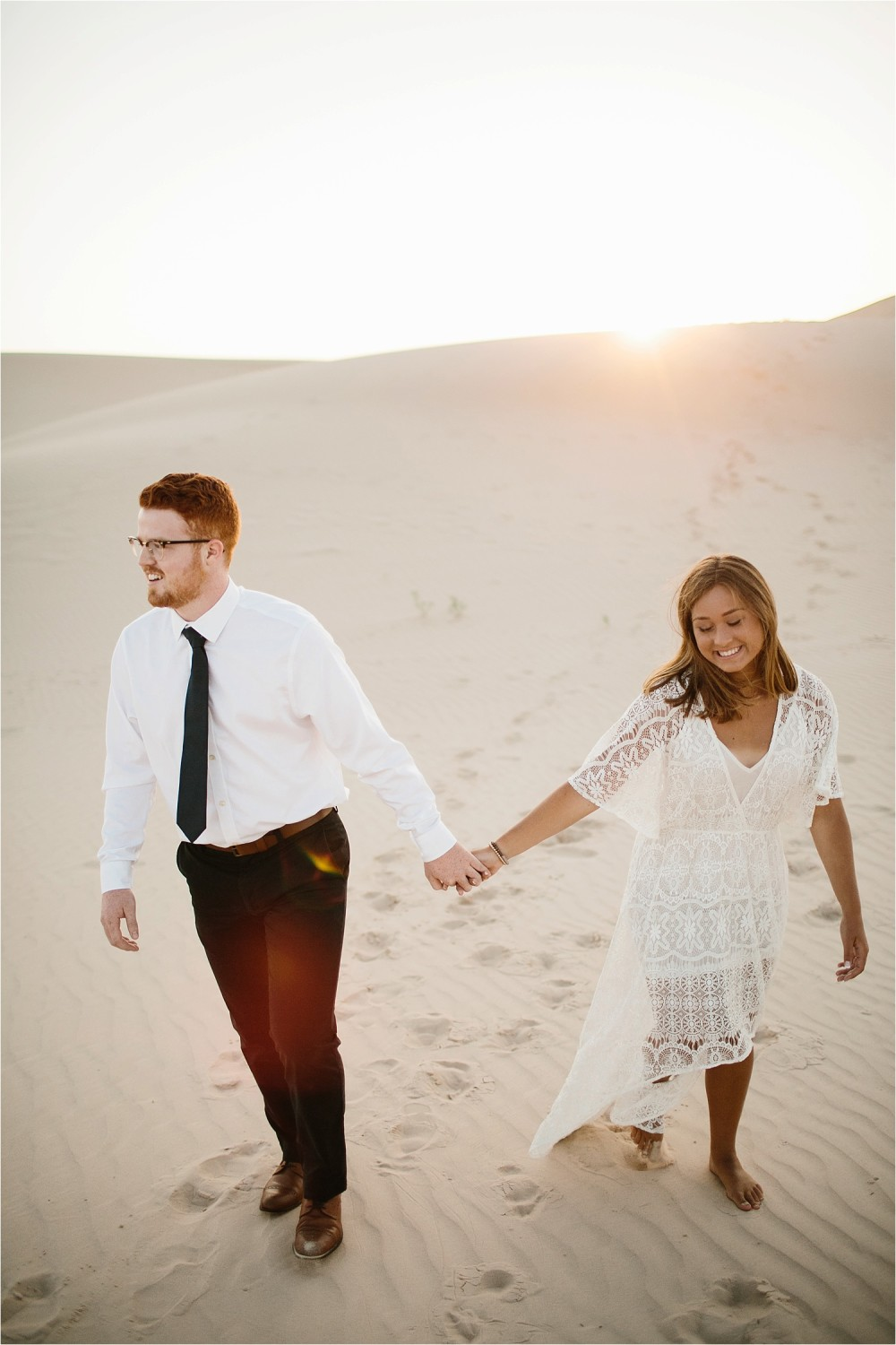 Lauren + Jacob __ a monahans sand dunes engagement session at sunrise by North Texas Wedding Photographer, Rachel Meagan Photography __ 12