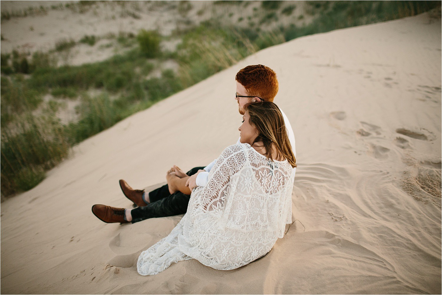 Lauren + Jacob __ a monahans sand dunes engagement session at sunrise by North Texas Wedding Photographer, Rachel Meagan Photography __ 14
