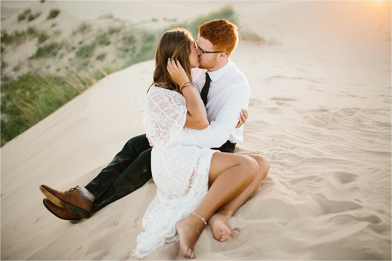 Lauren + Jacob __ a monahans sand dunes engagement session at sunrise by North Texas Wedding Photographer, Rachel Meagan Photography __ 15