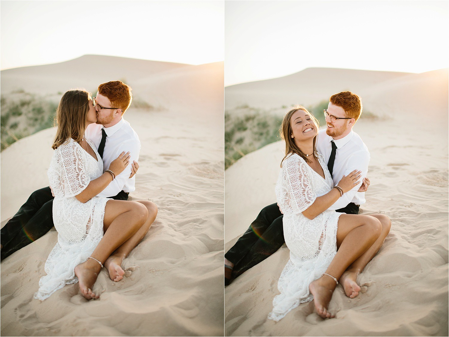 Lauren + Jacob __ a monahans sand dunes engagement session at sunrise by North Texas Wedding Photographer, Rachel Meagan Photography __ 16