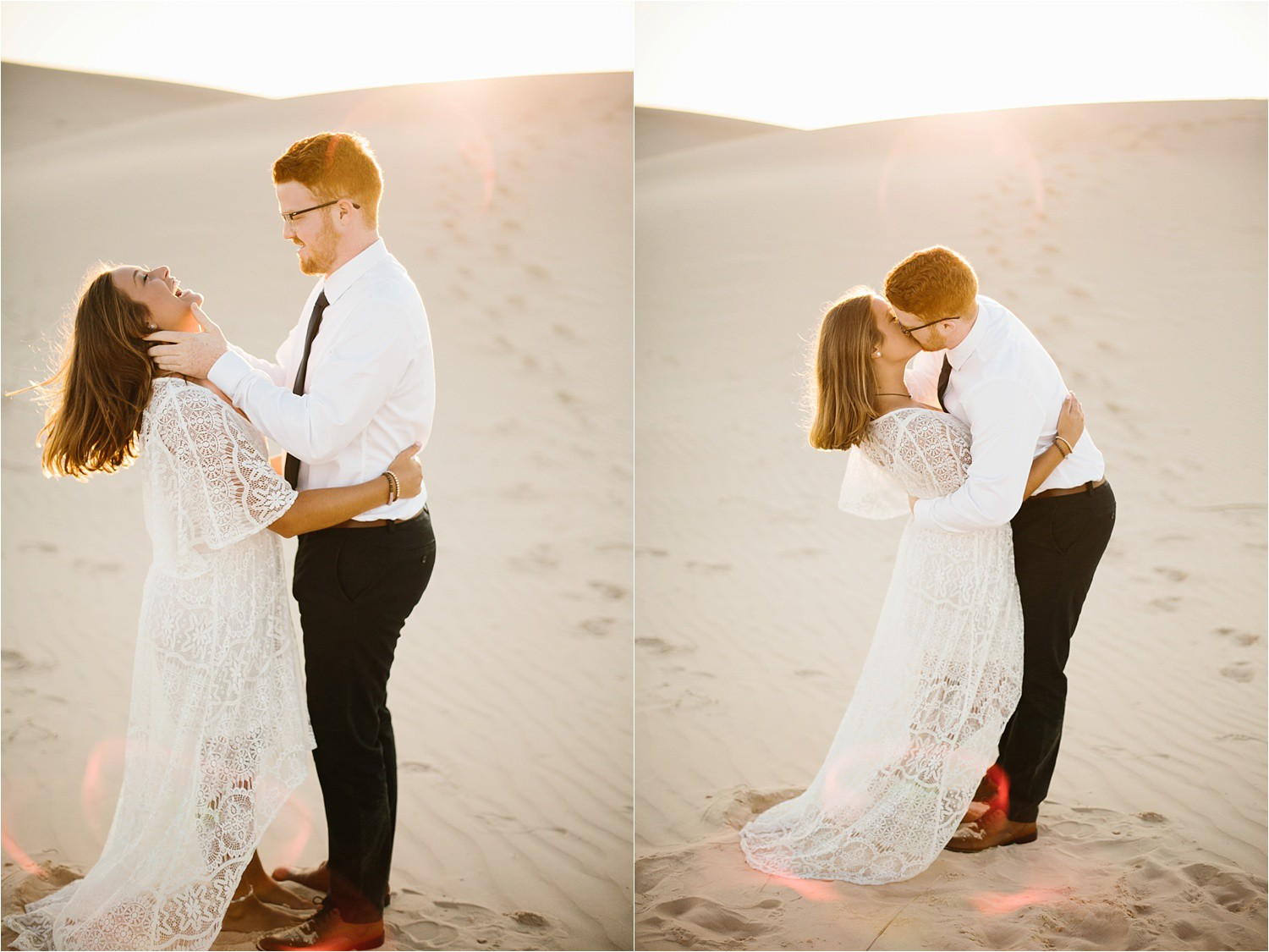 Lauren + Jacob __ a monahans sand dunes engagement session at sunrise by North Texas Wedding Photographer, Rachel Meagan Photography __ 18