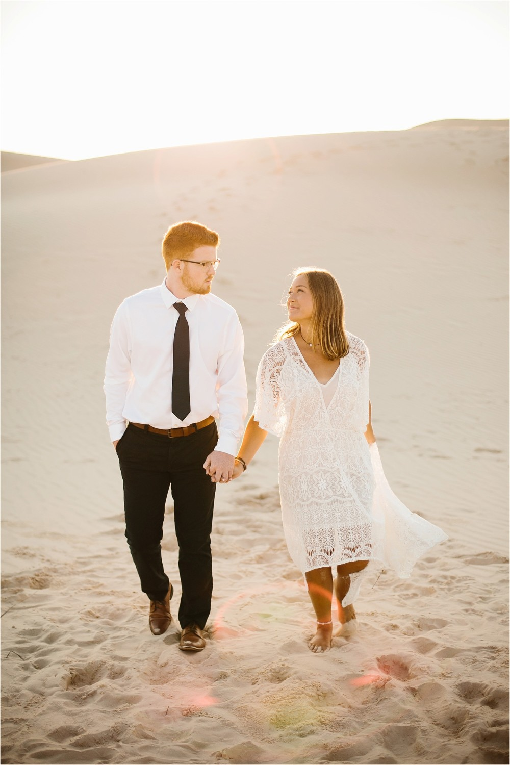 Lauren + Jacob __ a monahans sand dunes engagement session at sunrise by North Texas Wedding Photographer, Rachel Meagan Photography __ 21