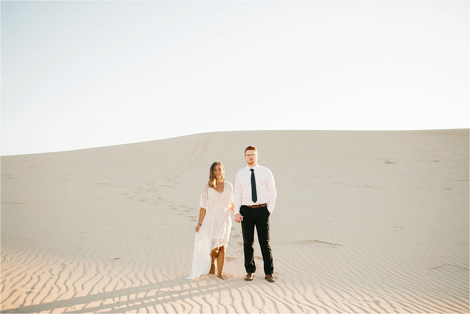 Lauren + Jacob __ a monahans sand dunes engagement session at sunrise by North Texas Wedding Photographer, Rachel Meagan Photography __ 29