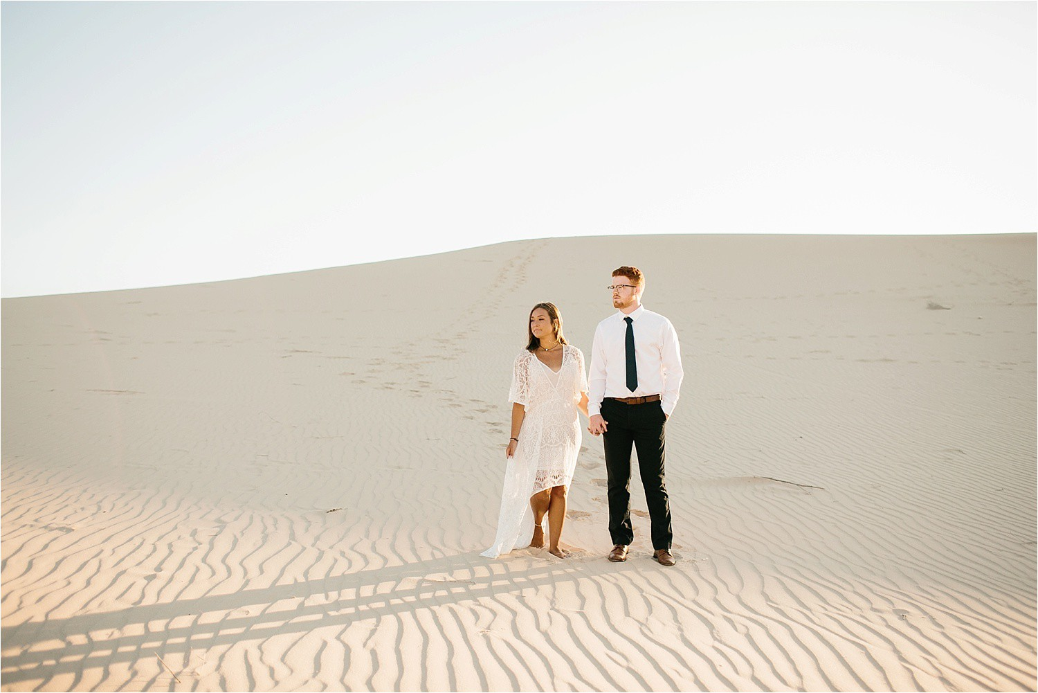 Lauren + Jacob __ a monahans sand dunes engagement session at sunrise by North Texas Wedding Photographer, Rachel Meagan Photography __ 30