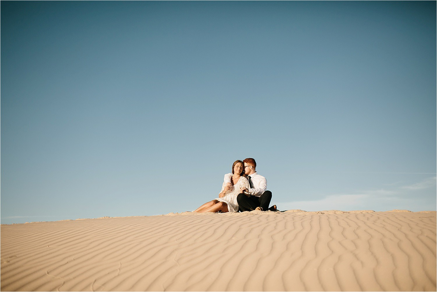 Lauren + Jacob __ a monahans sand dunes engagement session at sunrise by North Texas Wedding Photographer, Rachel Meagan Photography __ 31