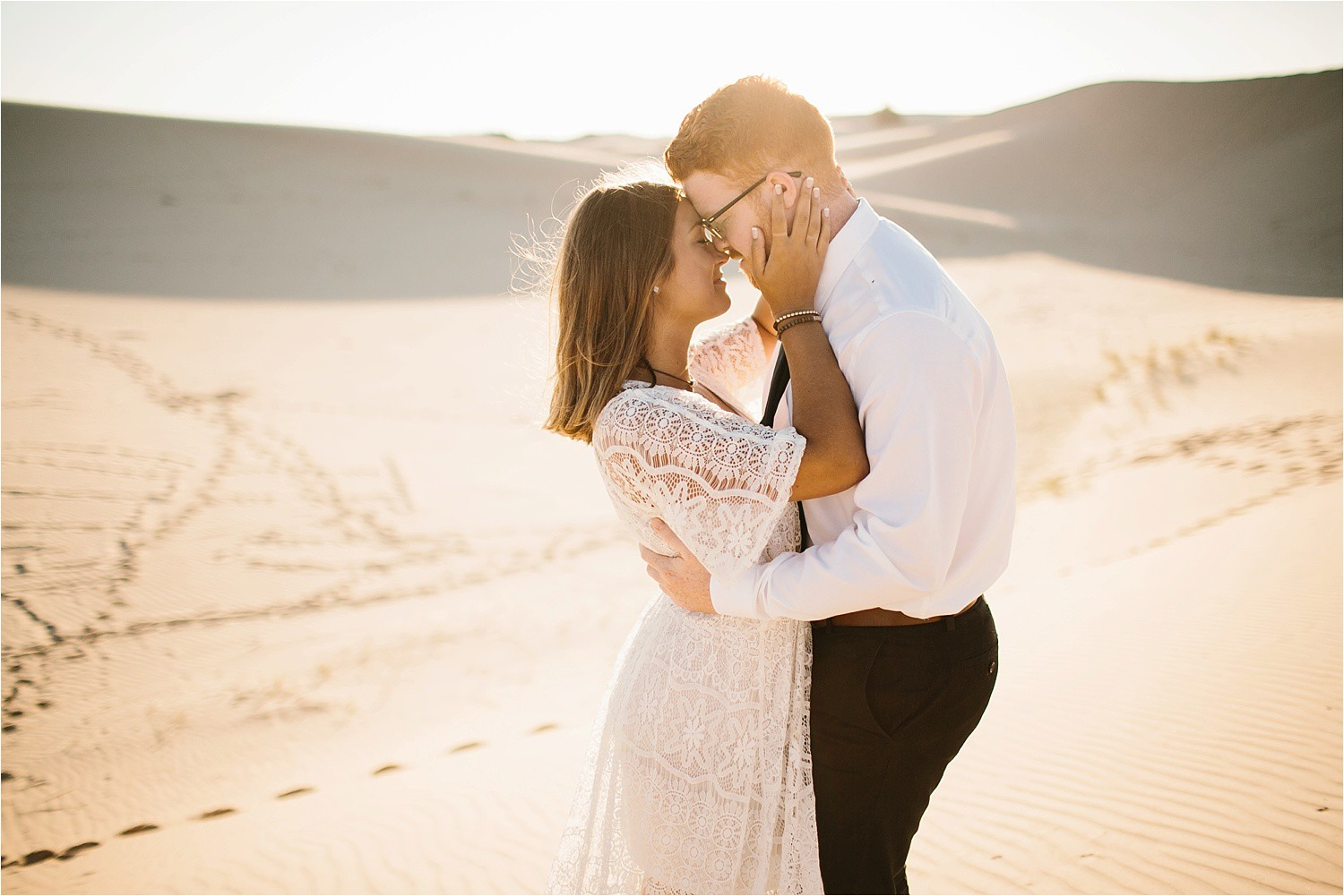 Lauren + Jacob __ a monahans sand dunes engagement session at sunrise by North Texas Wedding Photographer, Rachel Meagan Photography __ 33