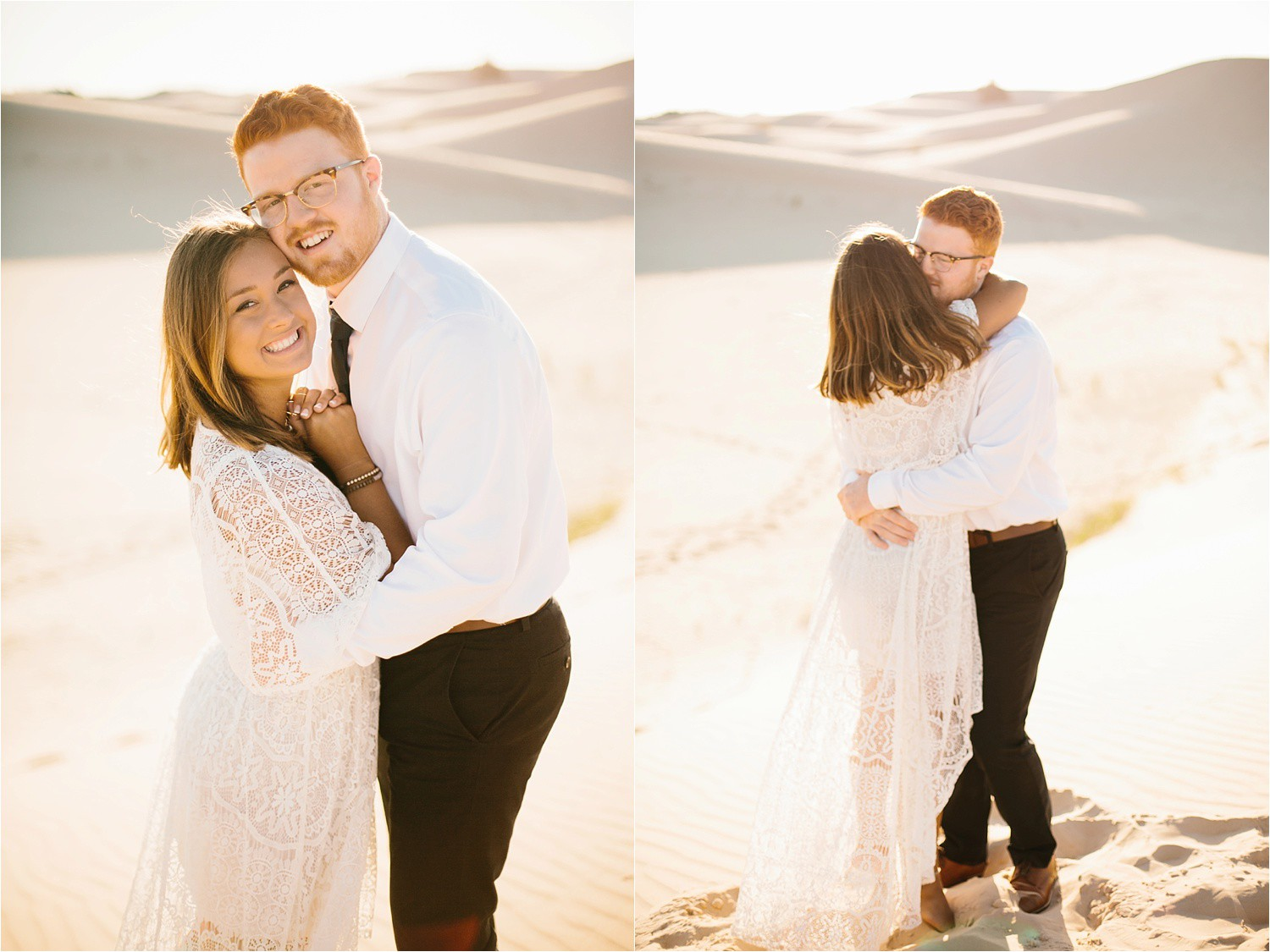 Lauren + Jacob __ a monahans sand dunes engagement session at sunrise by North Texas Wedding Photographer, Rachel Meagan Photography __ 34