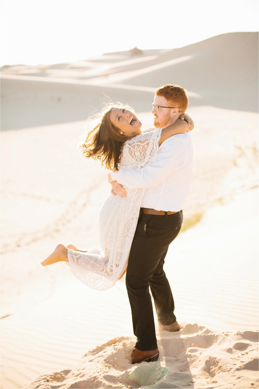 Lauren + Jacob __ a monahans sand dunes engagement session at sunrise by North Texas Wedding Photographer, Rachel Meagan Photography __ 35