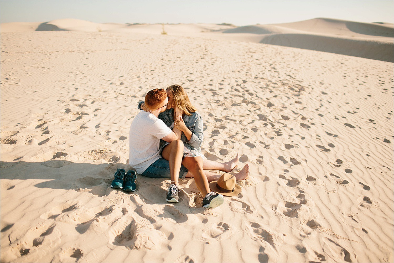 Lauren + Jacob __ a monahans sand dunes engagement session at sunrise by North Texas Wedding Photographer, Rachel Meagan Photography __ 36