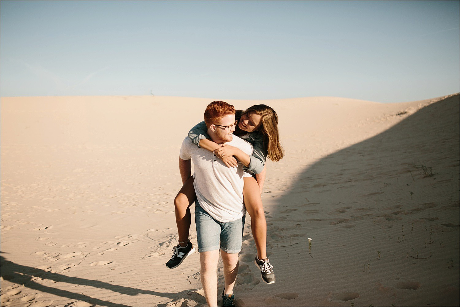Lauren + Jacob __ a monahans sand dunes engagement session at sunrise by North Texas Wedding Photographer, Rachel Meagan Photography __ 38
