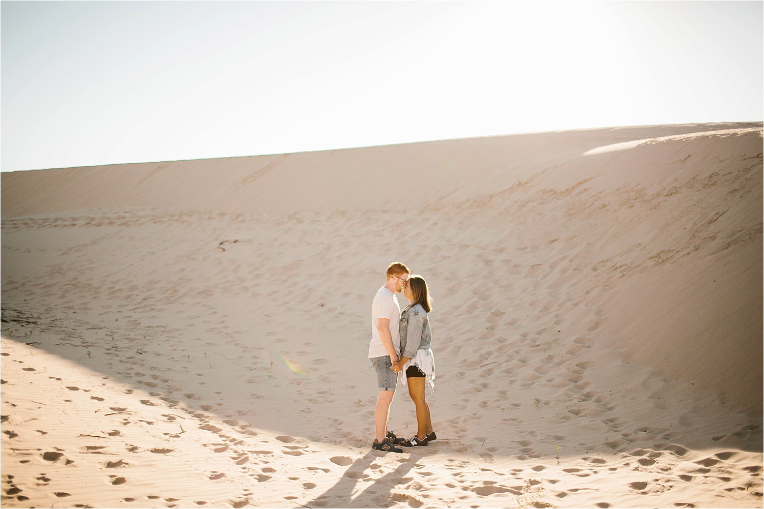 Lauren + Jacob __ a monahans sand dunes engagement session at sunrise by North Texas Wedding Photographer, Rachel Meagan Photography __ 41