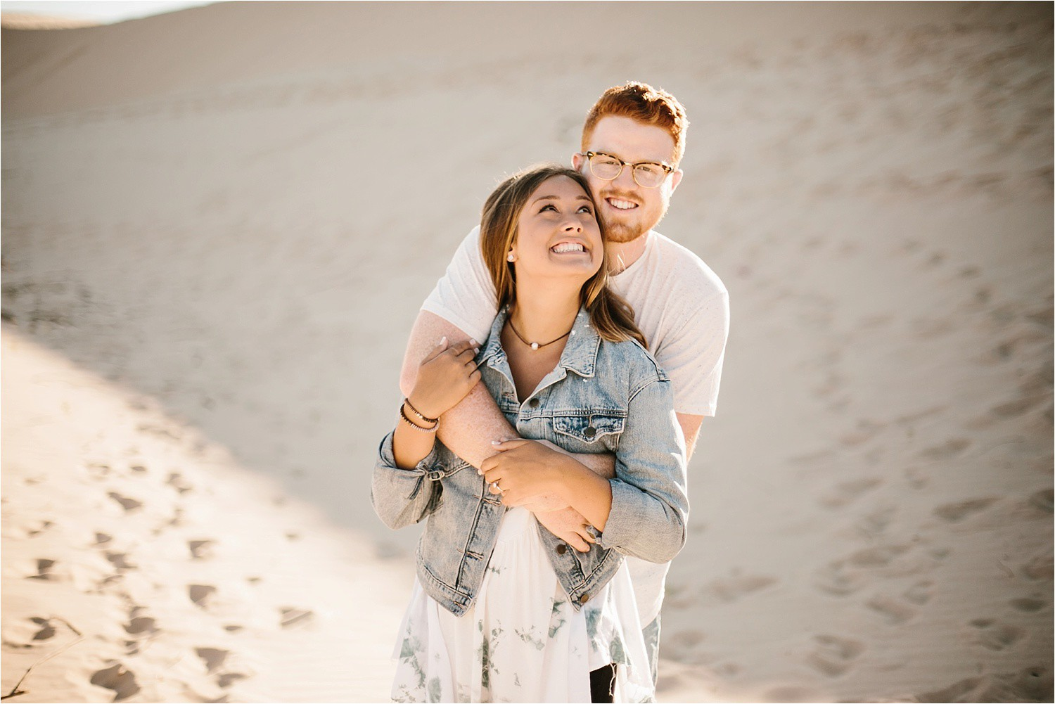 Lauren + Jacob __ a monahans sand dunes engagement session at sunrise by North Texas Wedding Photographer, Rachel Meagan Photography __ 45