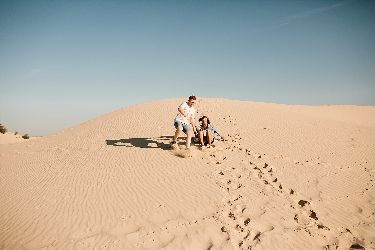 Lauren + Jacob __ a monahans sand dunes engagement session at sunrise by North Texas Wedding Photographer, Rachel Meagan Photography __ 50
