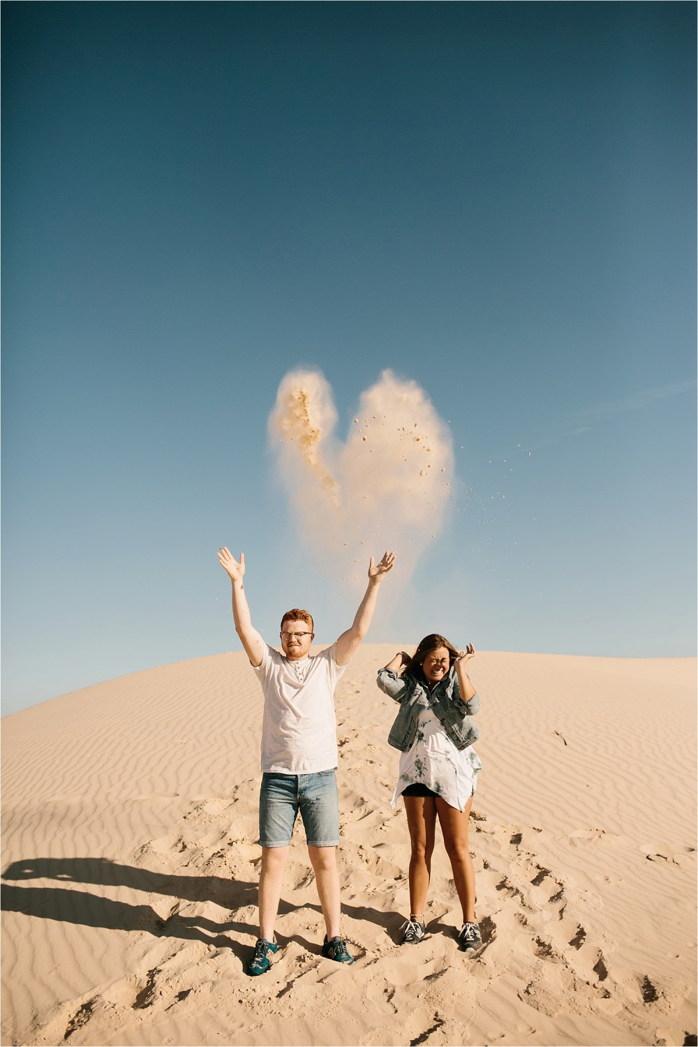 Lauren + Jacob __ a monahans sand dunes engagement session at sunrise by North Texas Wedding Photographer, Rachel Meagan Photography __ 52
