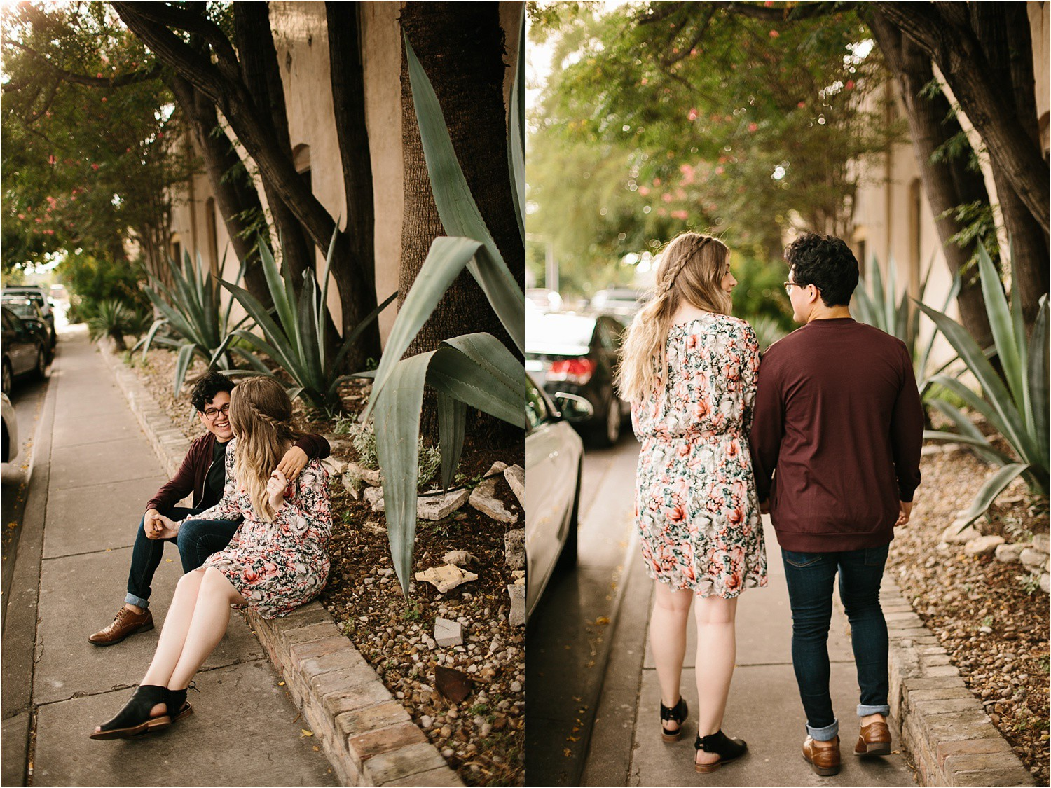 Romantic Austin, Texas Engagement Session with outfit inspiration + flowy red dress from Lulu's at Mckinney Falls State Park by North Texas Wedding Photographer, Rachel Meagan Photography __ 02