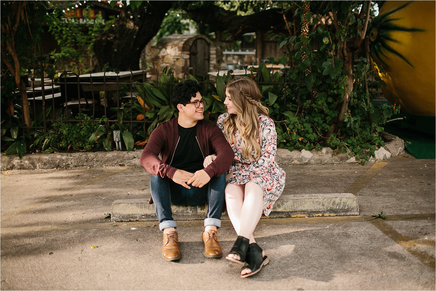 Romantic Austin, Texas Engagement Session with outfit inspiration + flowy red dress from Lulu's at Mckinney Falls State Park by North Texas Wedding Photographer, Rachel Meagan Photography __ 17