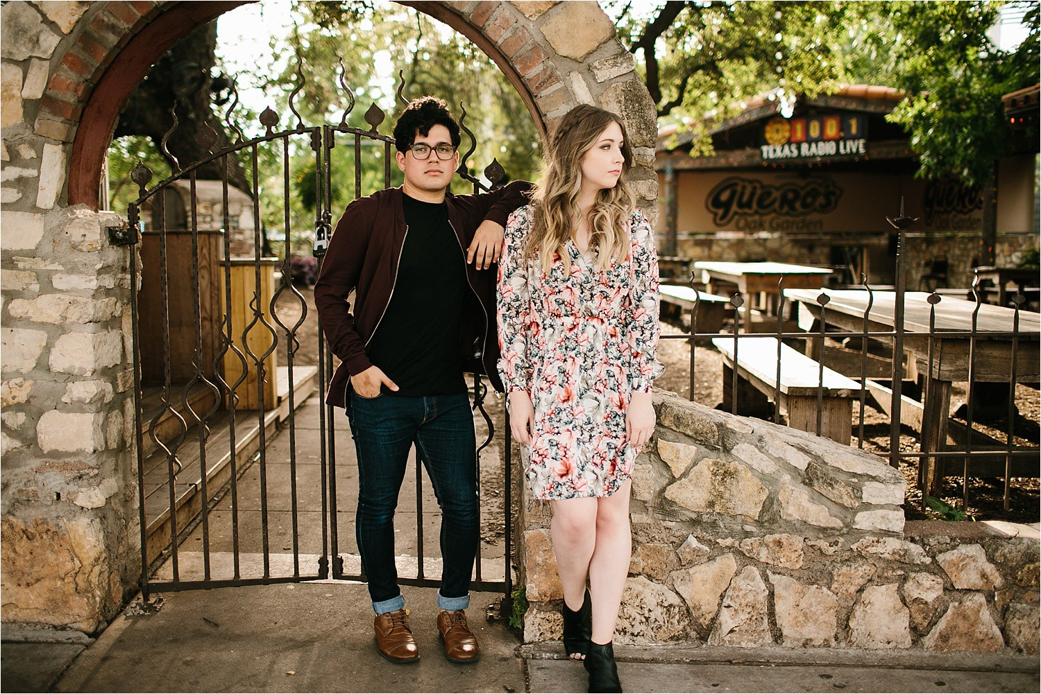 Romantic Austin, Texas Engagement Session with outfit inspiration + flowy red dress from Lulu's at Mckinney Falls State Park by North Texas Wedding Photographer, Rachel Meagan Photography __ 22