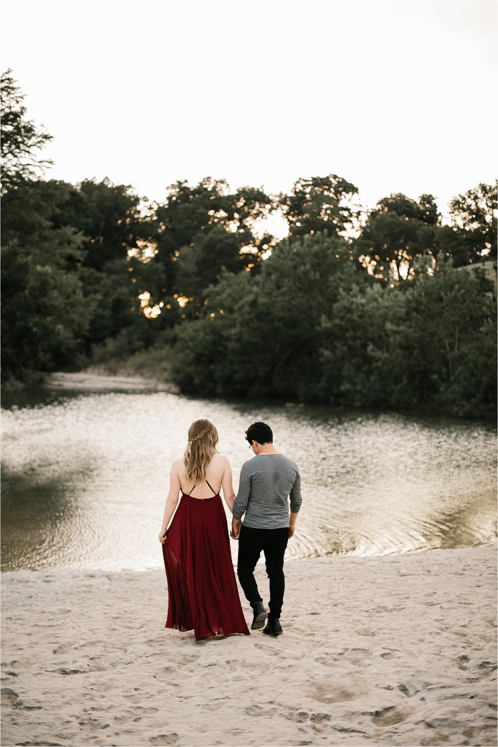 Romantic Austin, Texas Engagement Session with outfit inspiration + flowy red dress from Lulu's at Mckinney Falls State Park by North Texas Wedding Photographer, Rachel Meagan Photography __ 36