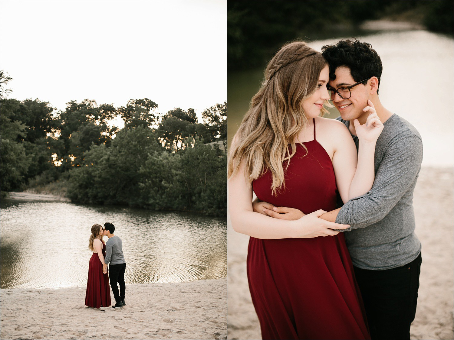 Romantic Austin, Texas Engagement Session with outfit inspiration + flowy red dress from Lulu's at Mckinney Falls State Park by North Texas Wedding Photographer, Rachel Meagan Photography __ 37