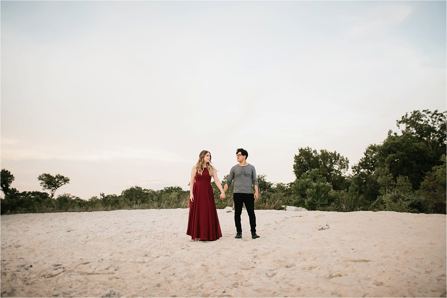 Romantic Austin, Texas Engagement Session with outfit inspiration + flowy red dress from Lulu's at Mckinney Falls State Park by North Texas Wedding Photographer, Rachel Meagan Photography __ 41