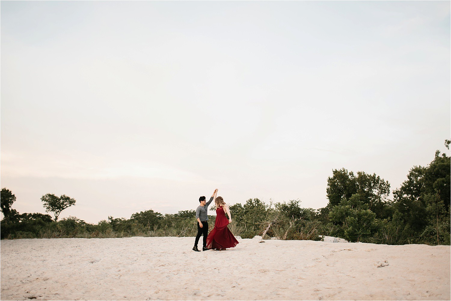Romantic Austin, Texas Engagement Session with outfit inspiration + flowy red dress from Lulu's at Mckinney Falls State Park by North Texas Wedding Photographer, Rachel Meagan Photography __ 43