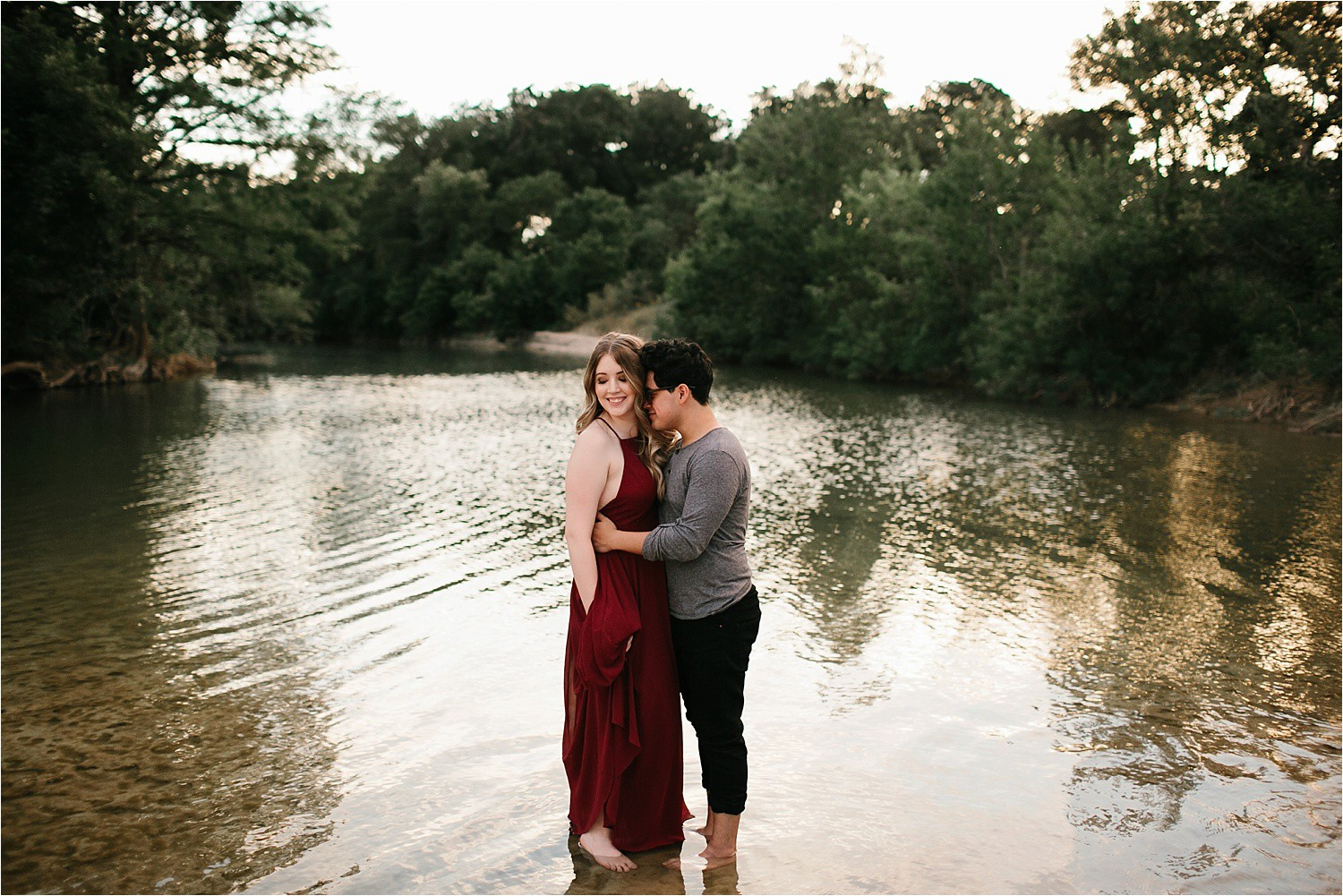 Romantic Austin, Texas Engagement Session with outfit inspiration + flowy red dress from Lulu's at Mckinney Falls State Park by North Texas Wedding Photographer, Rachel Meagan Photography __ 50